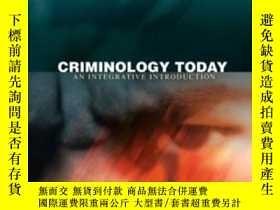 二手書博民逛書店Criminology罕見Today: An Integrative Introduction Value Pac