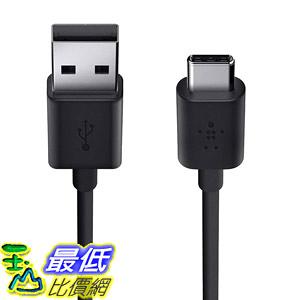 [8美國直購] 充電線傳輸線 Belkin F2CU032bt06-BLK USB-IF Certified 2.0 USB-A to USB-C (USB Type C) Charge Cable, 6 Feet