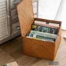 收納箱手工編織大號玩具收納籃草編收納筐雜物盒  【快速出貨】