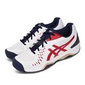 Asics 網球鞋 Gel-Challenger 12 白 紅 男鞋 網球專用 運動鞋 【ACS】 1041A045115