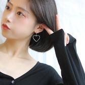 銀日系原宿可愛少女愛心桃心耳環簡約個性甜美心形耳釘耳飾女【一線時代】