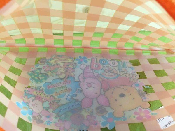 【震撼精品百貨】Winnie the Pooh 小熊維尼~造型收納包/筆袋-橘格子