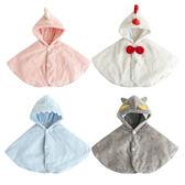 可愛造型保暖披肩 保暖外套 厚款連帽外套 92014