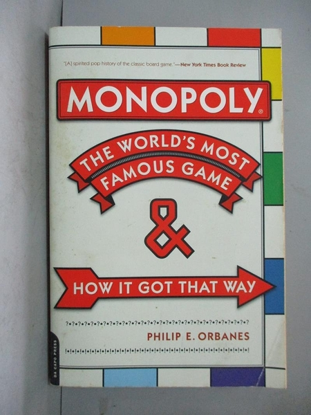 【書寶二手書T4/社會_DKP】Monopoly: The World's Most Famous Game--And How It Got That Way_Orbanes, Philip E.