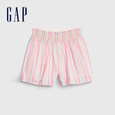 Gap女幼童 甜美亮色條紋鬆緊短褲 542944-多色條紋