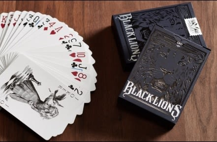 【USPCC 撲克】Bicycle 黑獅牌黑DAVID BLAINE black Lions 黑獅牌