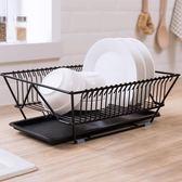 日式碗碟架餐具瀝水架廚房收納籃放碗筷盤子置物架子晾碗柜滴水架  WD 小時光生活館