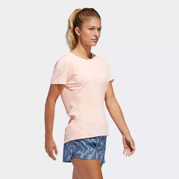 ADIDAS FRANCHISE SUPERNOVA 女裝 短袖 慢跑 休閒 透氣 粉【運動世界】CZ5555