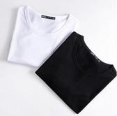 長袖T恤秋冬季男裝冰絲純色衛衣白丅打底衫上衣服秋衣新品