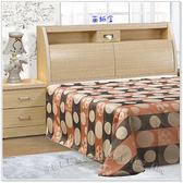 【水晶晶家具/傢俱首選】金圓滿白橡5呎雙人收納式板面床頭箱~~床底另購 SB8065-2