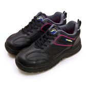 LIKA夢 GOODYEAR 固特異 透氣鋼頭防護認證安全工作鞋 QUEEN BEE蜂后系列 黑桃紅 92902 女