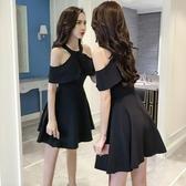 夜場女裝性感2020新款洋裝夏天赫本chic小黑裙收腰蓬蓬夜店裙子 安妮塔小鋪