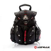 AIRWALK 經典三叉扣系列後背包 -黑 / 紅 A231321340