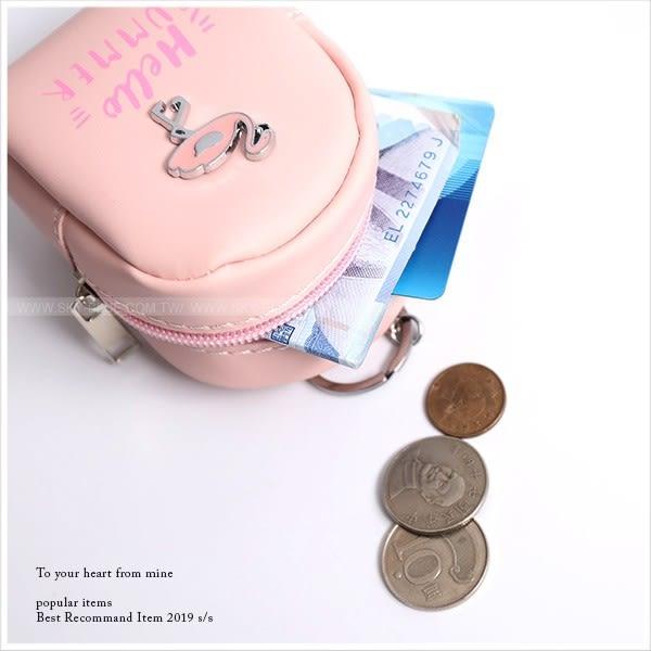 零錢包-韓系紅鶴背包造型零錢收納袋-共4色-A19190288-天藍小舖