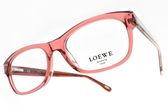 LOEWE 光學眼鏡 VLW829 0AFD (透粉) 經典不敗百搭款 # 金橘眼鏡