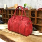 手提包-植鞣皮歐美復古時尚大方女側背包4色73sv42【巴黎精品】