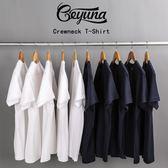 短袖 Geyuna日本重磅純棉素色寬鬆短袖打底衫T恤白色男女體恤潮半袖夏 宜室家居