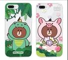 King*Shop~GARMMA  line friends正品 iPhone 7/8 空壓氣墊防摔保護軟殼 7/8 Plus 5.5吋
