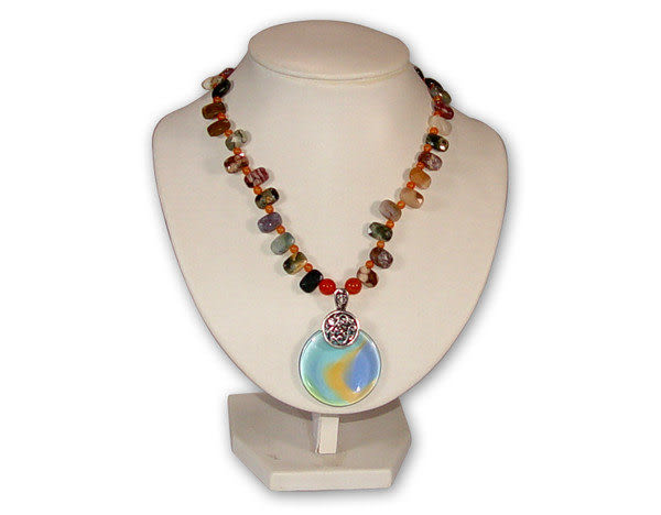 鹿港窯~居家開運琉璃 珠寶 項鍊~聽海◆附精美包裝‧免運費送到家