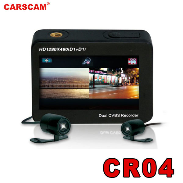 CARSCAM行車王CR-04雙鏡頭行車記錄器