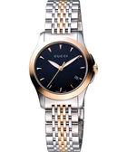GUCCI G-Timeless 古馳菱格紋時尚女錶-半金 YA126512