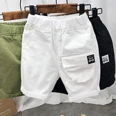 男童短褲 男童純棉短褲夏裝薄款寬鬆洋氣五分褲兒童夏季中褲寶寶正韓工裝褲-Ballet朵朵
