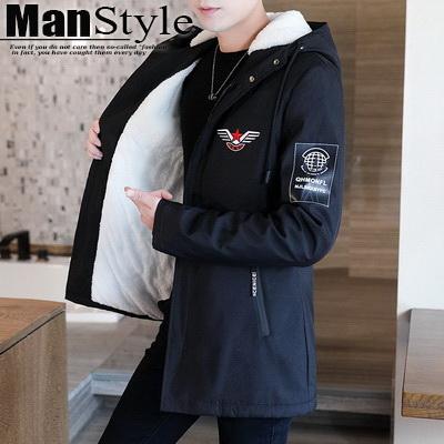 任選2件1280外套加絨加厚風衣中長版休閒夾克外套【08B-F0676】