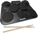 Alesis【日本代購】便攜式電子鼓 搭載教練功能 腳踏板 鼓棒CompactKit7