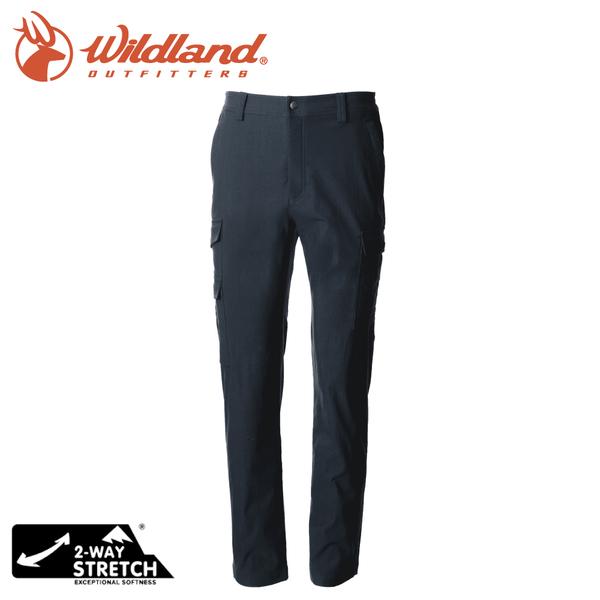 【Wildland 荒野 男 超彈多袋保暖拼接長褲《深藍》】0A72328/運動褲/休閒褲/彈性/登山