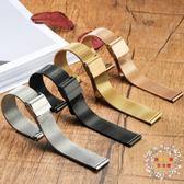 錶帶手錶帶代用dw男女米蘭精鋼不銹鋼帶超薄新品金屬網帶手?精鋼配件