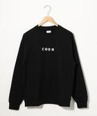 出清 衛衣 品牌LOGO T恤 男 圓領上衣  日本品牌【coen】