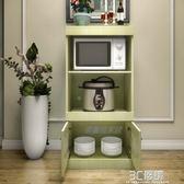 新品微波爐電飯煲櫃簡約廚房多功能收納家用帶門餐邊櫃立式櫃HM 3C優購