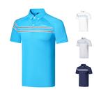 高爾夫男裝短袖T恤 速干透氣POLO衫 春夏修身翻領高爾夫球衣服男