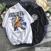 大碼T恤  日系動漫龍珠聯名短袖T恤青少年寬松情侶嘻哈冰絲棉夏裝【S-5XL】