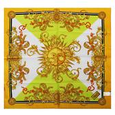 VERSACE古典太陽圖騰純棉手帕領巾(黃色)89017-14
