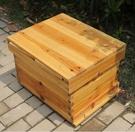 蜜蜂箱全套中蜂帶框巢礎煮蠟蜂箱 cf...