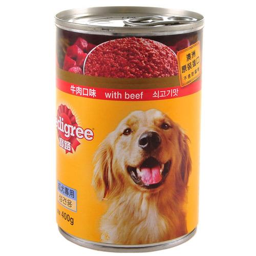 【寵物王國】Pedigree寶路狗食罐頭(牛肉口味)400g