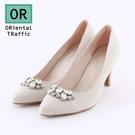 【ORiental TRaffic】華麗鑲鑽尖頭高跟鞋-優雅米