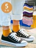 黑色長襪子女中筒襪韓版學院風棉薄款潮月子襪夏季春秋百搭堆堆襪伊芙莎