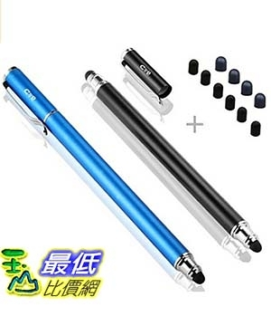 [美國直購] apple ipad iphone samsung 手機平板通用型觸控筆  Bargains Depot (2 Pcs)  2-in-1 Stylus/Styli 5.5-inch