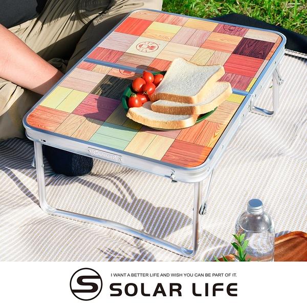 Coleman 自然風抗菌摺桌迷你桌/CM-26756.露營折疊桌 多功能摺疊桌 行動折合桌 和室桌 野餐小餐桌