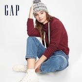 Gap女裝 簡約風格寬鬆式連帽休閒上衣 618427-紅色