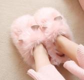 樸西豚鼠毛毛鞋家居棉拖鞋女可愛毛絨情侶冬室內棉拖鞋家用秋冬女   koko時裝店