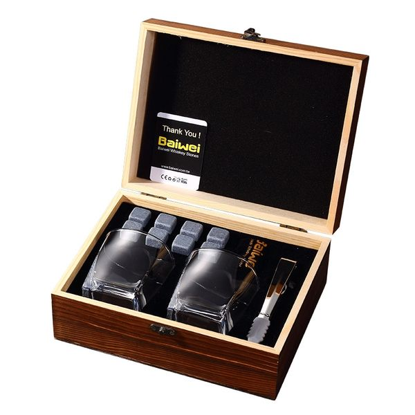 Whisky Stones 威士忌冰酒石  ( 雙酒杯精緻禮盒)