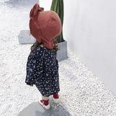 寶寶帽子女童2018春季新款0嬰幼兒棉質正韓遮陽帽男童1純色漁夫帽【萬聖節鉅惠】
