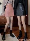 小皮裙 2020秋冬新款ins冷淡風PU皮裙黑色半身裙女高腰a字顯瘦包臀短裙子 suger