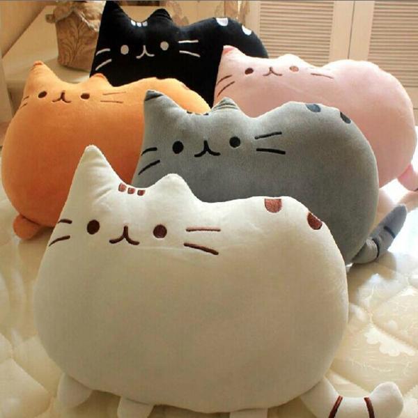 【00129】2隻以上請宅配 胖胖餅乾貓咪抱枕 喵星人 午安枕 辦公室午睡枕 靠枕 抱枕 禮物