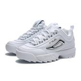 FILA DISRUPTOR 2 II  鋸齒 白銀  復古 老爹鞋 鋸齒鞋 女(布魯克林) 5C608T103