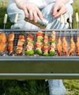 燒烤爐家用家庭燒烤架外燒烤用具木炭野外加厚烤肉爐便攜折疊烤架QM 依凡卡時尚