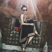 女款吊帶海邊度假泰國連身裙